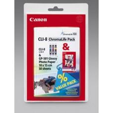 Canon 0621B029 bläckpatron färg (cyan, magenta, gul) CLI-8 C/M/Y