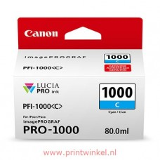 Canon 0547C001 bläckpatron cyan PFI-1000C