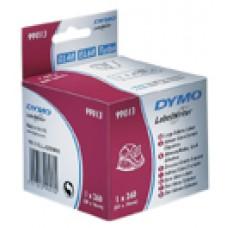 DYMO 99013 adresse etiket, transparent plast 36X89mm, 260 labels, S0722410