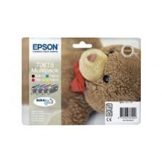 Epson C13T06154010 Bläckpatronspaket svart, cyan, magenta, gul