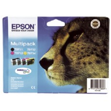 Epson C13T07154012 Bläckpatronspaket svart, cyan, magenta, gul