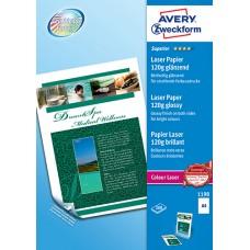 Avery 1198 Fotopapper Glättat för laserskrivare, 120 gsm A4 200ark