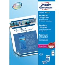 Avery 1298 Fotopapper Glättat för laserskrivare, 170 gsm A4 200ark
