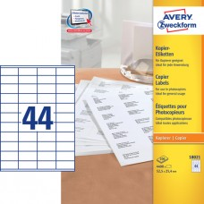 Avery 18021 Etiketter till kopiatorer vita 25,4 x 52,5mm 44st x 100ark