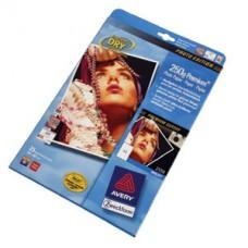 Avery 2556-20 fotopapper bläckstråleskrivare, premium 250g A4 20ark