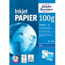 Avery 2566 Bright white bläckstråleskrivare papper 100g A4 500ark