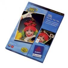 Avery 2572-50 fotopapper för bläckstråleskrivare, 200g A4 50ark