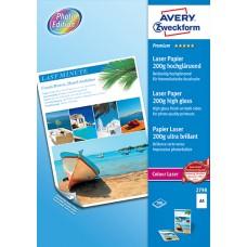 Avery 2798 Premium Fotopapper laserskrivare, 210x297mm, 200g A4 100ark
