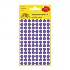 Avery 3112 Runde etiketter, permanent lim, violet Ø8mm, 416stk