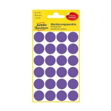 Avery 3118 Runde etiketter, permanent lim, violet Ø18mm, 96stk