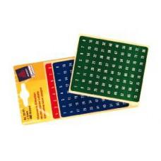 Avery 32-421 Tal och bokstav, 1-160siffr röd/blå/grön, ø8mm, 480st
