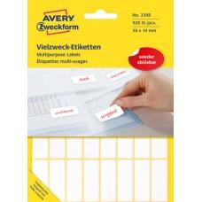 Avery 3398 Etiketter för handskrivning, avtagbara 38x14mm 928st.