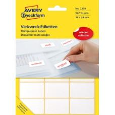 Avery 3399 Etiketter för handskrivning, avtagbara 38x24mm 522st.