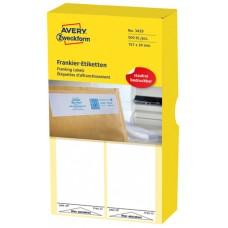 Avery 3429 Frankeringsetiketter 39 x 159mm, 500 Etiketter, 500 Ark