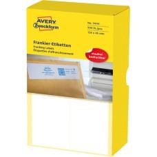 Avery 3444 Frankeringsetiketter 45 x 132mm, 500 Etiketter, 250 Ark