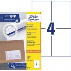 Avery 3483 Vita etiketter bläck-och laserskrivare 105x148mm 100ark