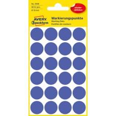 Avery 3596 Blå Avtagbara färgkodningsprickar ø18mm 96st