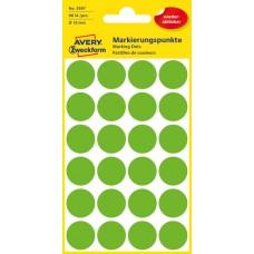Avery 3597 Gröna Avtagbara färgkodningsprickar ø18mm 96st