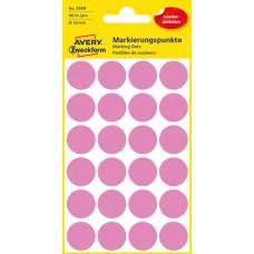 Avery 3599 Rosa Avtagbara färgkodningsprickar ø18mm 96st