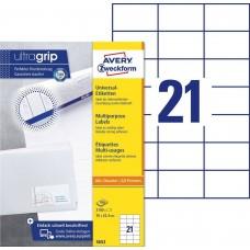 Avery 3652 Etiketter till bläck-och laserskrivare 70x42,3mm 100ark