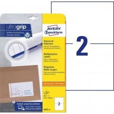 Avery 3655-10 Vita etiketter bläck och laserskrivare 210x148 10ark