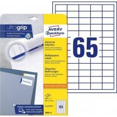 Avery 3666-10 Vita Etiketter till bläck- och laserskrivare 38x21,2mm 10ark