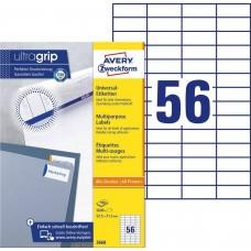 Avery 3668 Etiketter till bläck och laserskrivare 52,5x21,2mm 100ark