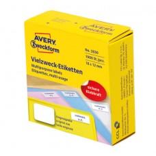 Avery 3830 Etiketter för handskrivning 18x12mm permanent 1.000stk