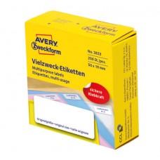 Avery 3833 Etiketter för handskrivning 50x19mm permanent 250stk