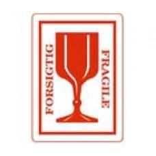 Avery 43-433 Försiktig / Fragile etiketter, 45x65 mm, Rulle med 500st
