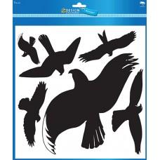 Avery 4485 Varningsfåglar, väderbeständig, vinylfilm, svart, 6st