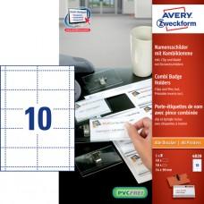 Avery 4820 Set med namnskyltar och instickskort för 50 skyltar 90x54mm