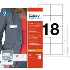 Avery 4835S-M Namnskyltsset Till medarbetare, 70x30mm, 10 Brickor