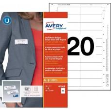 Avery 4836-M Namnskyltsset Till medarbetare, 75x30mm, 10 Brickor
