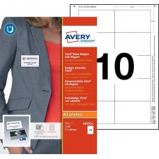Avery 4837G-L Namnskyltsset Till medarbetare, 89x57mm, 10 Brickor