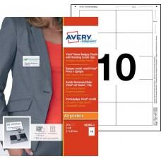 Avery 4838G-L Namnskyltsset Till medarbetare, 89x57mm, 20 Brickor