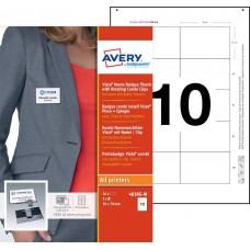 Avery 4838G-M Namnskyltsset Till medarbetare, 78x50mm, 20 Brickor