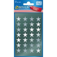 Avery 52811 Silver stjärnor För vacker dekoration, 8 x 8 mm, stansad