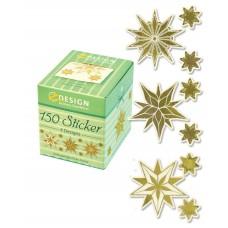 Avery klistermärken på rulle, guld julstjärna motiv 56823, 150st