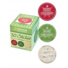 Avery klistermärken på rulle, Merry Christmas motiv, 56828, 50st