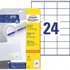 Avery 6122 Vita etiketter till bläck-och laserskrivare 70x36 10ark