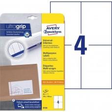 Avery 6124 Vita etiketter till bläck-och laserskrivare 105x148 10ark