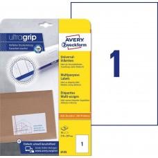 Avery 6125 Vita etiketter till bläck-och laserskrivare 210x297 10ark