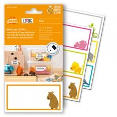 Avery LIVING 62036 etiketter för märkning av leksakslådor 97x47,5mm