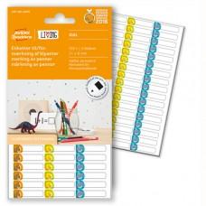 Avery LIVING 62039 etiketter för märkning av pennor 31 x 6 mm