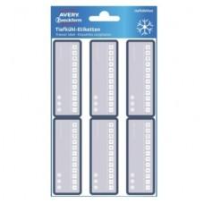 Dybfrostetiketter med datoangivelse, 26 x 73mm 24stk. Avery 63022