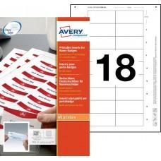 Avery 6530 Namnskyltsinstick till 4835S-M & 4835G-M, 65x30mm, 10ark
