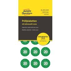 Avery 6945-2020 Manipulationssäkra etiketter 2020, Ø20mm, grön