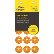 Avery 6945-2021 Manipulationssäkra etiketter, 2021, Ø20mm, orange