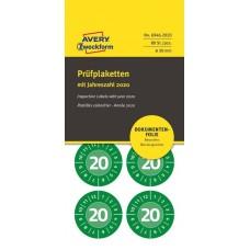Avery 6946-2020 Manipulationssäkra etiketter, 2020, Ø30mm, grön